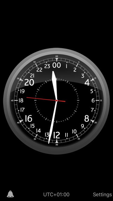 iPhone App Glasenuhr